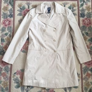 GAP Button Down Trench Coat NWOT